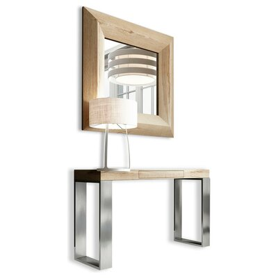 "Clemens 31.5"" Console Table and Mirror Set Brayden Studio Color: Matte"