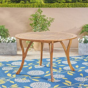 Balhi Wooden Dining Table by Breakwater Bay 2019 Coupon