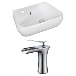 Inexpensive Specialty Ceramic Specialty Vessel Bathroom Sink with Faucet and Overflow ByAmerican Imaginations