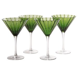 blue hill martini glass set of 4