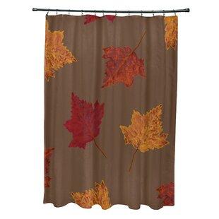 Leaf Print Shower Curtain