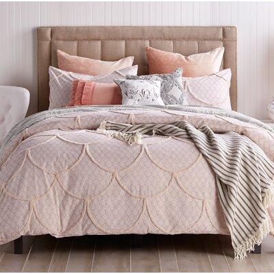 Slaton Chenille Scallop Comforter Set Size: King Comforter + 2 Shams