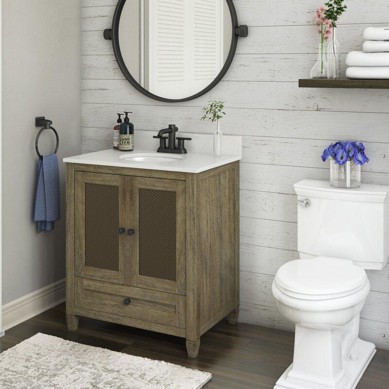 Coastal Farmhouse Alayna 30 Single Bathroom Vanity Set Reviews Wayfair
