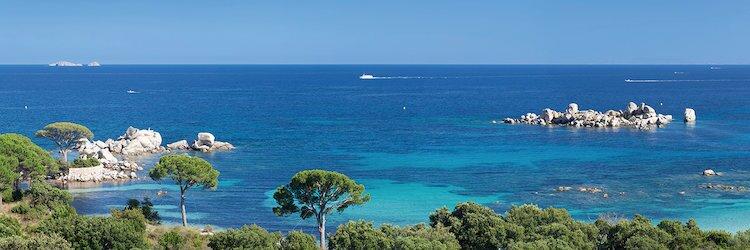 Palombaggia Beach Porto Vo Corse Du Sud Corsica France By