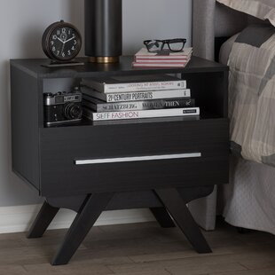 Read Reviews Shorey 1 Drawer Nightstand by Wrought Studio
