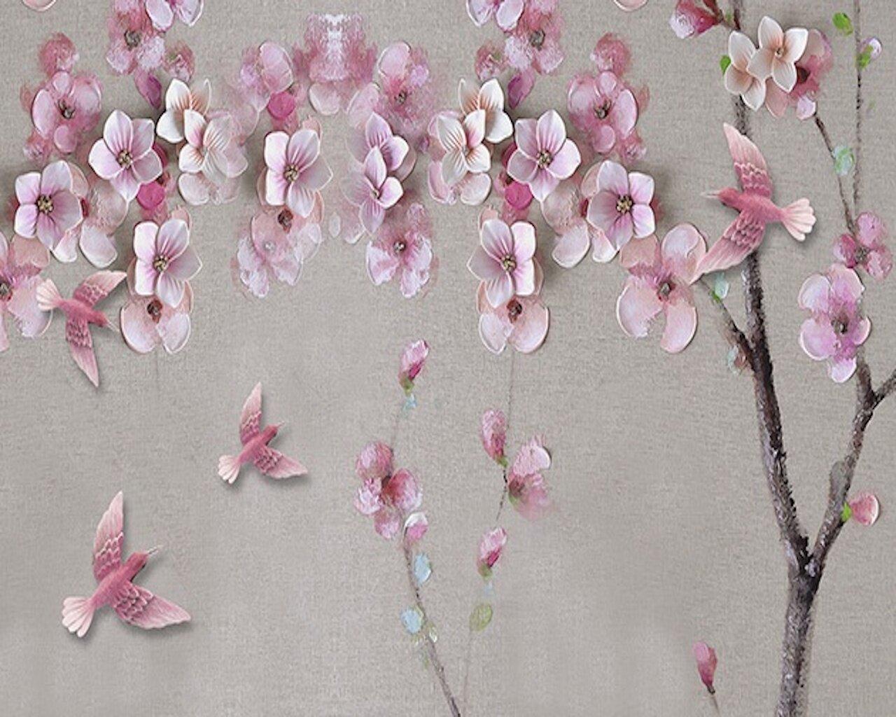 Cherry Blossom Oil Painting Flower