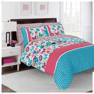 Design Studio Flirty Floral 4 Piece Reversible Comforter Set