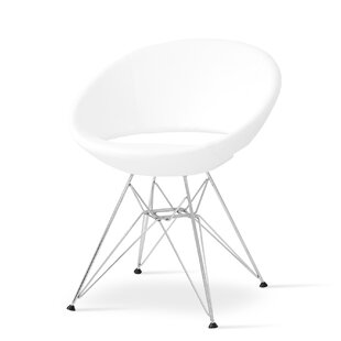 sohoConcept Crescent Side Chair in Leatherette-PPM - White