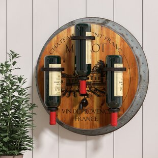 Benito Merlot 3 Bottle Wall Mounted Wine Rack