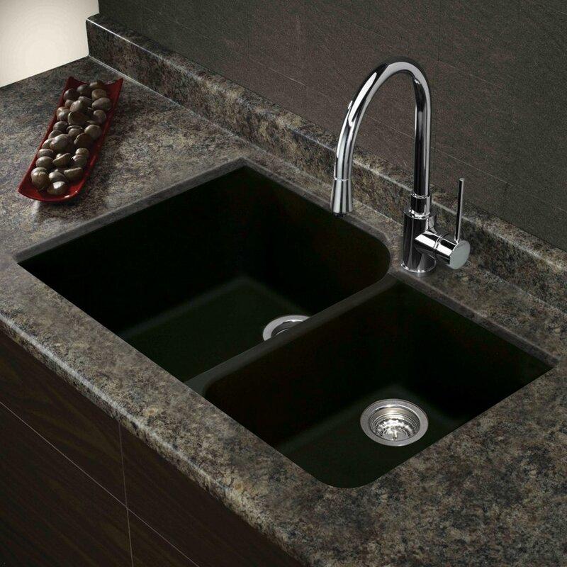 Undermount Granite Kitchen Sink Transolid radius 31 x 20 granite double offset undermount kitchen radius 31 x 20 granite double offset undermount kitchen sink workwithnaturefo