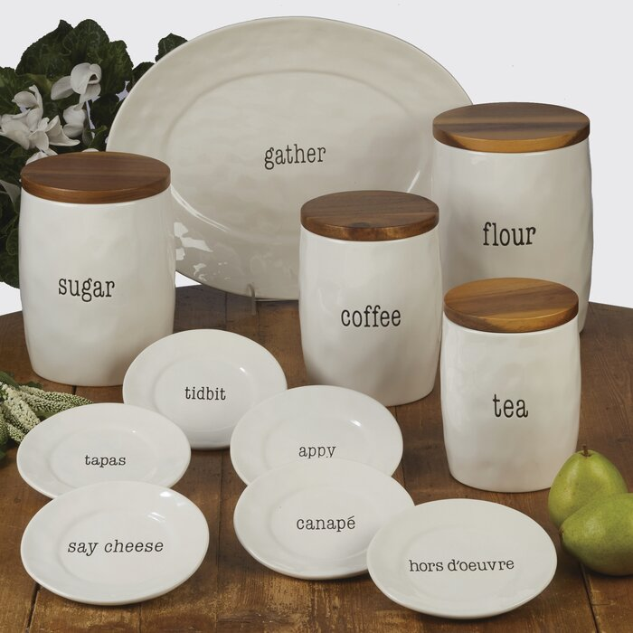It\'s Just Words 4 Piece Kitchen Canister Set