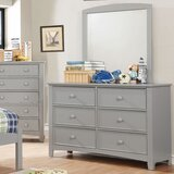 Finkelstein 6 Drawer Double Dresser with Mirror by Darby Home Co