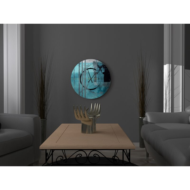 East Urban Home Oversized Associate Come At Able Abstract Metal Wall Clock Wayfair
