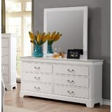 Priscilla 6 Drawer Double Dresser with Mirror by Alcott Hill®