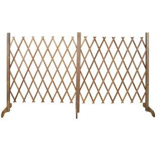 Expanding Double Wood Lattice Panel Trellis By Sol 72 Outdoor