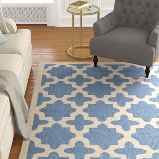 Fredricks Blue/Beige Indoor/Outdoor Area Rug