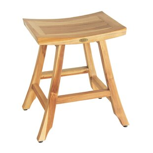 Satori EarthyTeak Teak Bistro Patio Bar Stool