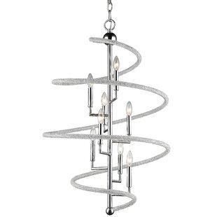 Iliomar 8-Light Geometric Chandelier by Orren Ellis