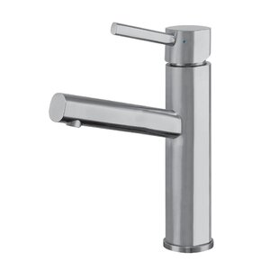 Whitehaus Collection Waterhaus Stainless Steel Elevated Lavatory Single Hole Bathroom Faucet