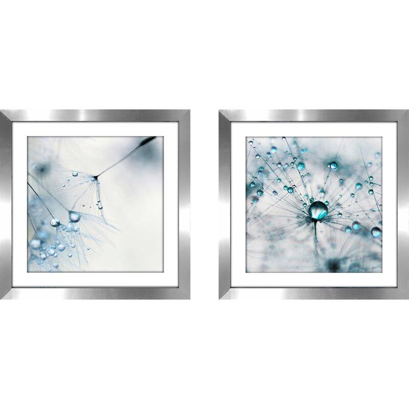 Latitude Run Baby Blue 2 Piece Framed Photographic Print Set Reviews Wayfair