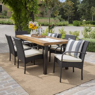 Hoff 7 Piece Dining Set by Bayou Breeze