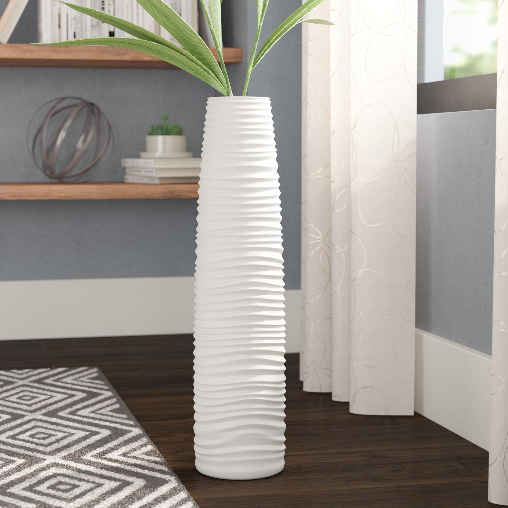 Wade Logan Ceramic Floor Vase Reviews Wayfair