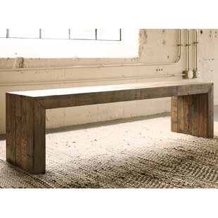 Oval kitchen table with bench wayfair chantel wood bench workwithnaturefo