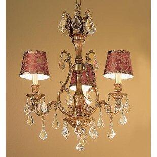 Classic Lighting Majestic 3-Light Shaded Chandelier