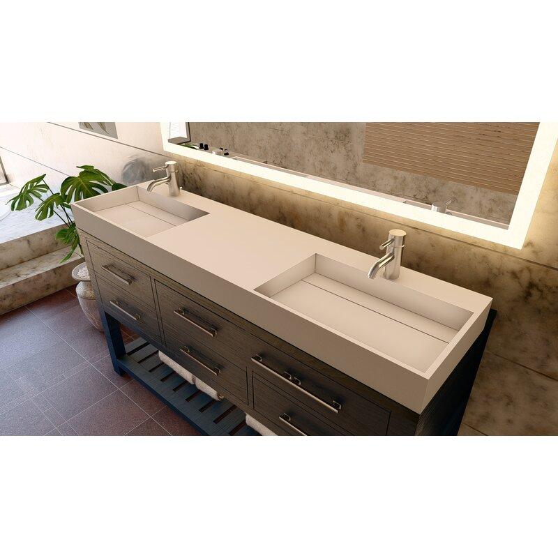 Castellousa Amelia 72 Double Bathroom Vanity Top Wayfair