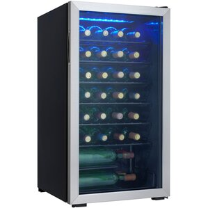 36 Bottle Single Zone Freestanding Wine Cooler by Danby