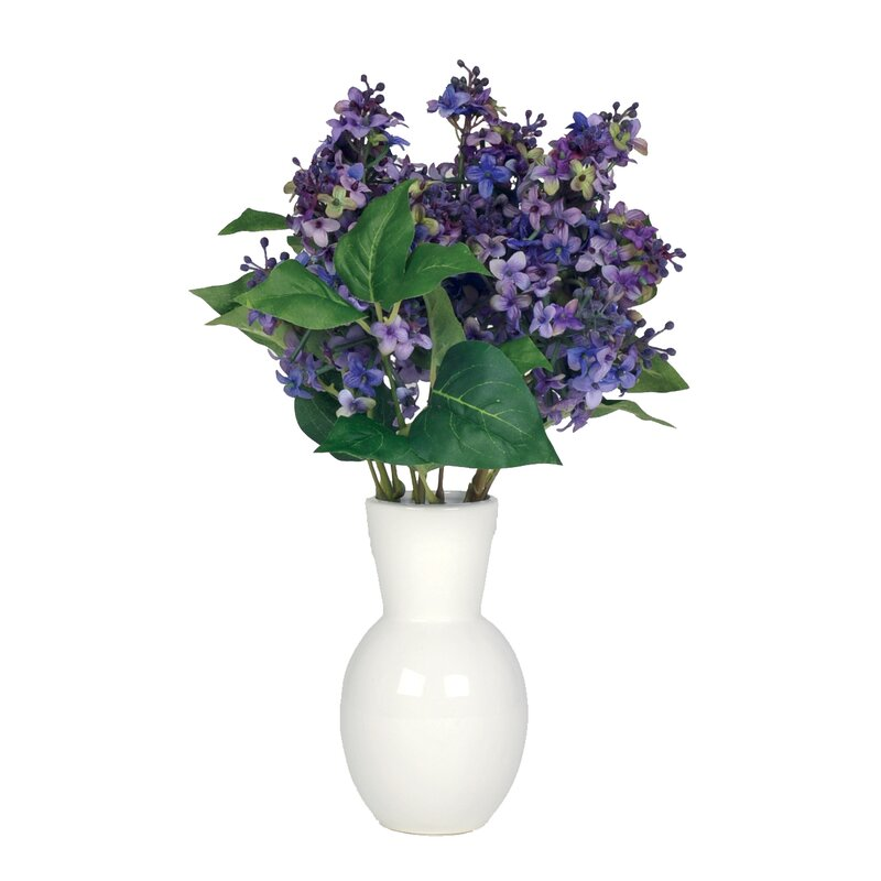 House Of Silk Flowers Artificial Lilac In Ceramic Vase Reviews