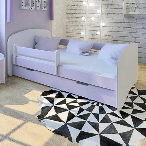 Funktionsbett mit Matratze und Schublade   Schlafzimmer > Betten > Funktionsbetten   Lila   Mdf - Baumwolle - Holz   Möbel Concept