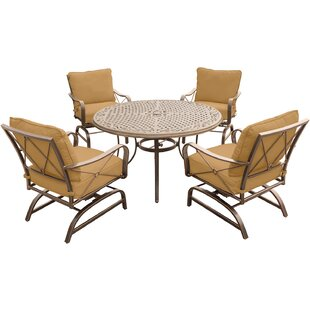 Rhonda 5 Piece Dining Set with Cushions