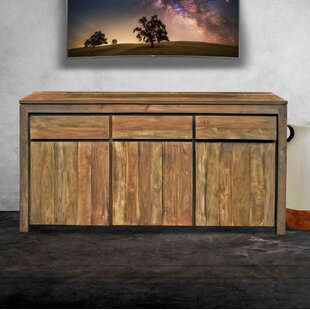 Hortensia Recycled Teak 3 Door Sideboard Loon Peak