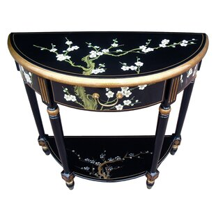 Cherry Blossom Half Moon Console Table By World Menagerie