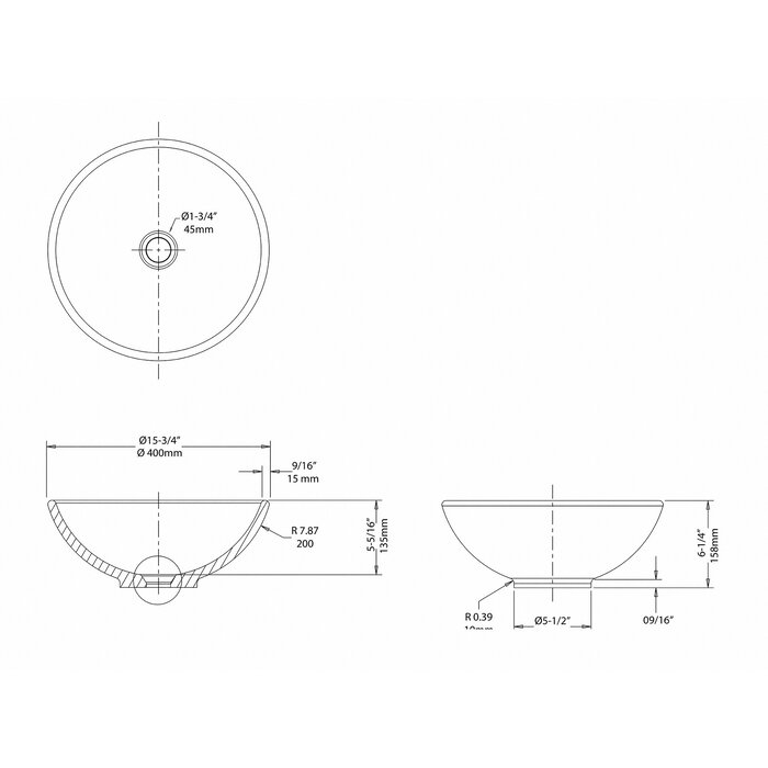 Kraus Ceramic Ceramic Circular Vessel Bathroom Sink Reviews