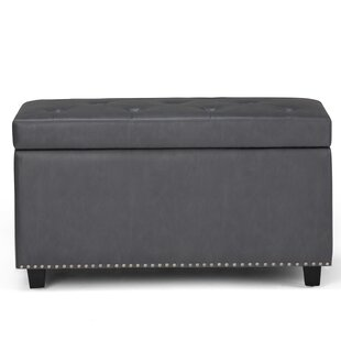 Hannah Faux Leather Storage Bench by Simpli Home