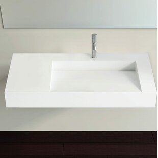 Polymarble 39 Wall Mount Bathroom Sink by Badeloft