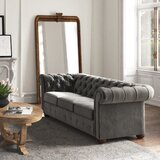 Alena Velvet Chesterfield 91.25 Rolled Arm Sofa by Kelly Clarkson Home