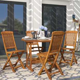 Beachcrest Home Pine Hills 5 Piece Dining Set