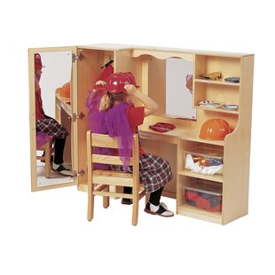 Siloam Deluxe Closet Vanity Set with Mirror by Zoomie Kids