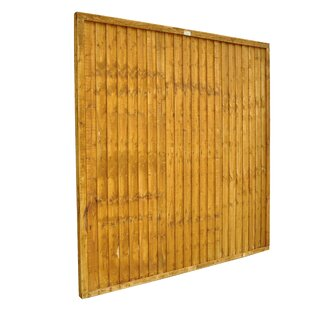 6' x 6' (1.83m x 1.83m) Closeboard Fence Panel (Set of 3) by Bel Étage