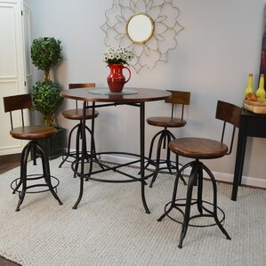 Nevada Adjustable Height Swivel Bar Stool by Tre..