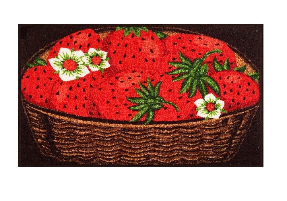 Maja Strawberry Basket Kitchen Mat