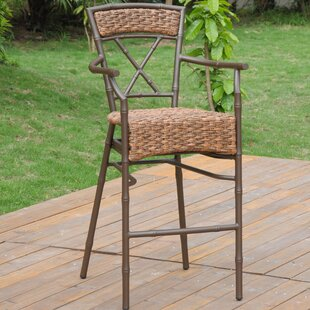 Charlestown Patio Barstool (Set Of 2) by Bay Isle Home Bargain