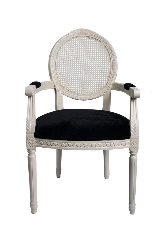 Derrys Louis Carver Upholstered Dining Chair Reviews Wayfair - Carver dining chairs