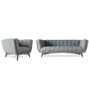 Wolken Mid-Century Modern 2 Piece Living Room Set by George Oliver