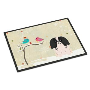 Christmas Presents Between Friends Pekingnese Doormat