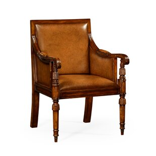 Windsor Leather Bergere Armchair by Jonathan Charles Fine Furniture