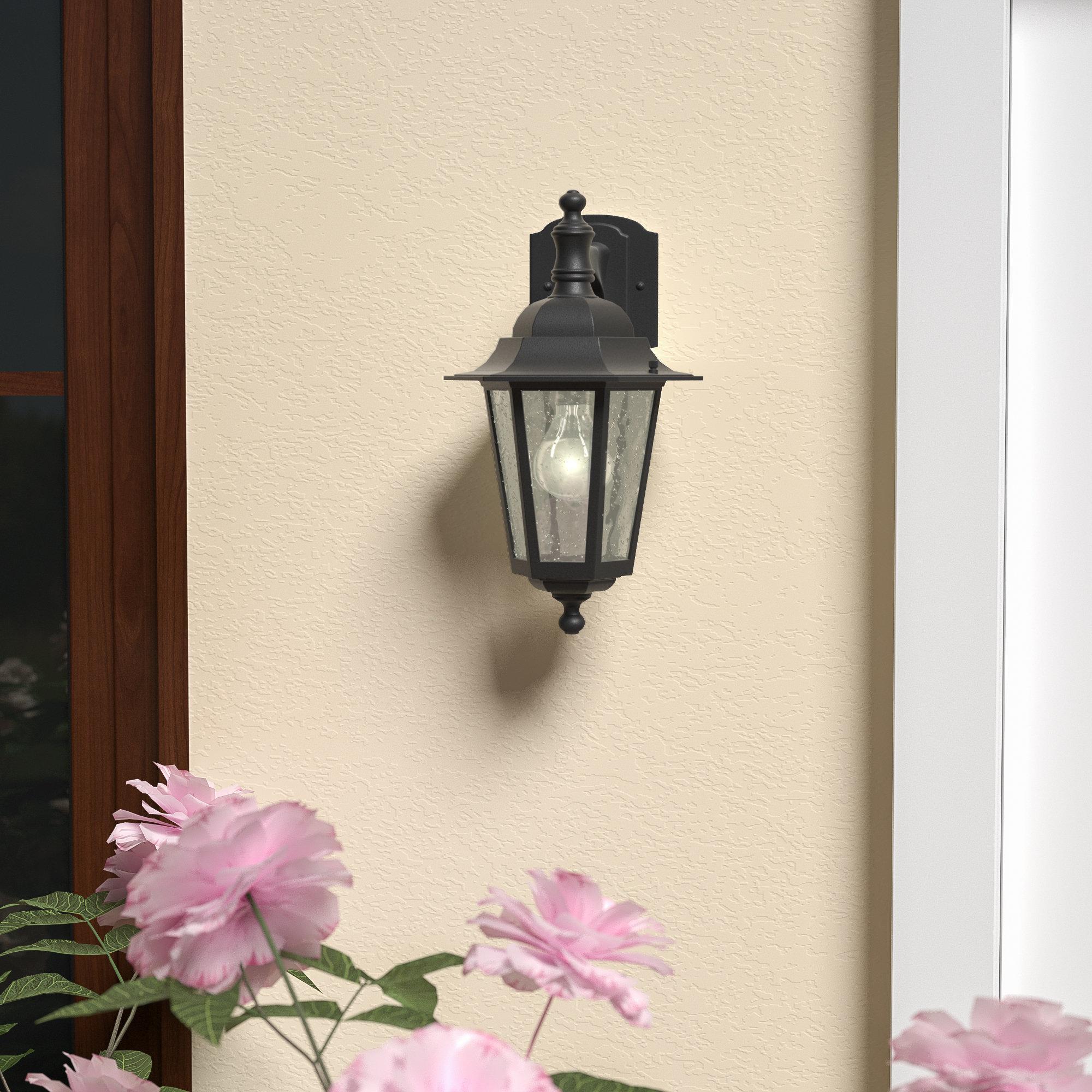Alcott Hill Mayer 1 Bulb Outdoor Wall Lantern Reviews Wayfair